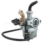19mm Zink / Aluminum Carburetor w/Cable Choke for 50-110cc 4-stroke ATVs, Go Karts