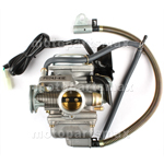 24mm Carburetor w/Electric Choke for GY6 150cc Mopeds, Scooters, ATVs, Go Karts