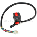 X-PRO� 3-Function Left Switch Assembly with Choke Lever for 50cc-125cc ATVs 8-Pin